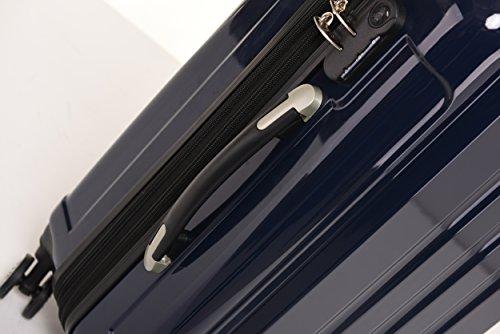 BEIBYE Zwillingsrollen 2048 Hartschale Trolley Koffer Reisekoffer in M-L-XL-Set in 17 Farben (Dunkelblau, SET) - 6