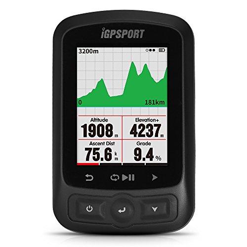 Lixada Computer GPS per Biciclette, iGPSPORT, 2.2 '' Schermo LCD + IGS618 ANT + Funzione + Road Map...