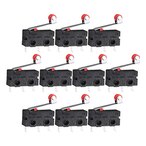 Funzioni.  - Colore: nero, rosso, argentoPeso netto: 22 g.Tensione: 125-250V.- Dimensione totale (poli non inclusi): 20 x 6 x 10 mm (lunghezza x larghezza x altezza).Lunghezza della leva:  18 mm.Diametro del rullo: 4,5 mm foro di montaggio: ...