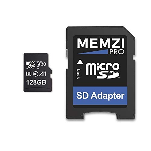 MEMZI 128 GB Micro SDXC Scheda di Memoria per GoPro Hero7/Hero6/Hero5, Hero 7/6/5 Action Fotocamere - Veloce Classe 10 UHS-1 U3 V30 100MB/s Leggere 90MB/s Scrivi 4K 3D Registrazione con adattatore SD