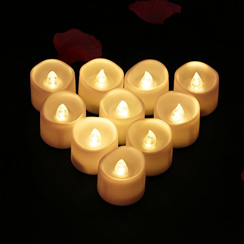bougies led chauffe plat candle tea light flamme vacillante lumi re ambre avec piles d coration. Black Bedroom Furniture Sets. Home Design Ideas
