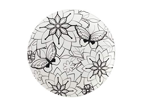 Maxwell & Williams Mindfulness Plato de 19 cm GB, diseño de Mariposas, Color Blanco