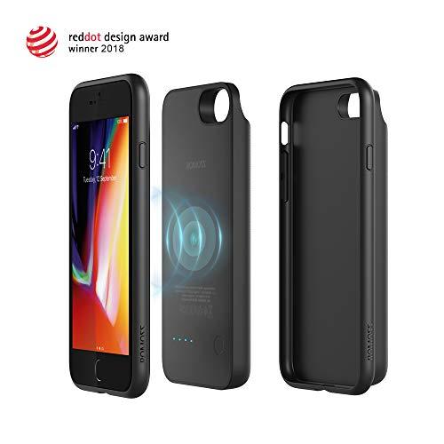 Romoss [3 in 1] Abnehmbare Magnetische Akku Hülle Kompatibel mit Phone 8 + Kabelloses Qi Induktive Ladegerät + Externe Batterie 3450mAh für Andere Smartphone[Red Dot Design 2018 Award Gewinner]