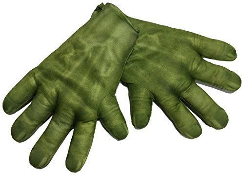 Hasbro Avengers–Guanti, Colore: Verde, Taglia Unica, Rubie' s 36348