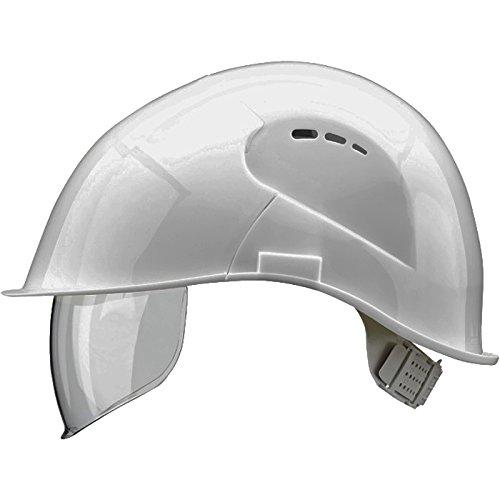Voss - Casco con visera de protección (conformes con normas EN 397 y EN 166, polietileno), color blanco