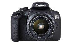 Canon EOS 2000D + EF-S 18-55mm f/3.5-5.6 IS II Juego de cámara SLR 24.1MP CMOS 6000 x 4000Pixeles Negro - Cámara Digital (24,1 MP, 6000 x 4000 Pixeles, CMOS, Full HD, 475 g, Negro)