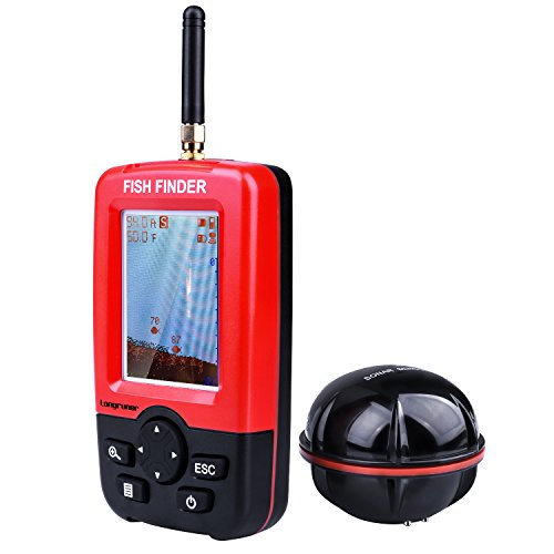 Longruner Fishing Finder Portable Wireless Sonar Sensor Fish Attractor And Fish Gear with Colorful Display