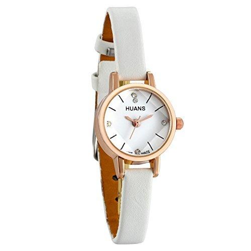 Lancardo, orologio da polso da donna color oro rosa, con quadrante piccolo e cinturino in pelle...