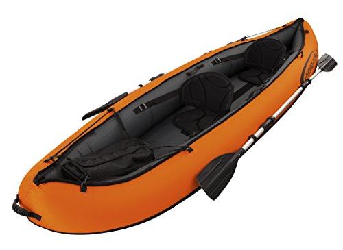 Bestway 65052 - Kayak Hinchable Bestway Hydro-Force Ventura para 2 personas (330x94 cm) - Incluye remos desmontables de 2 palas en aluminio, bolsa de transporte e inflador