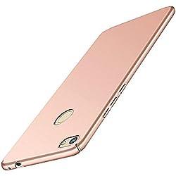 Qissy Carcasa Huawei P8 Lite (2017 Series) Incluido Anti-Scratch Anti-Huella Dactilar a Prueba de Choque Suave Protective Case Cover Skin para Huawei P8 Lite 2017 Series (Oro Rosa)