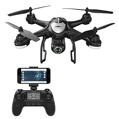 Potensic T18 Drone GPS con Telecamera 1080P, Dual GPS con Grandangolare-Regolabile Camera HD WiFi...