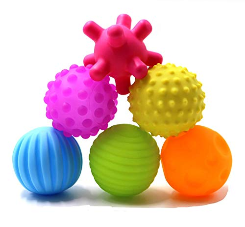 Uooker Sensory Balls, Soft Balls Toy for Baby and Kids,Massage Soft & Textured Balls Set Develop Baby's Tactile Senses Toys for Infant Touch Hand Ball