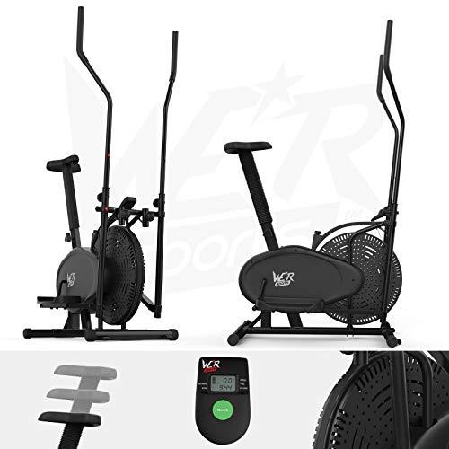 We R Sports 2-in-1 Elliptical Cross Trainer Vélo elliptique Mixte Adulte, Noir