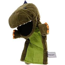 perfeclan Marioneta de Mano de Dinosaurio Regalo de Fiesta Navidad Cumpleaños para Niños Muchachos - Verde