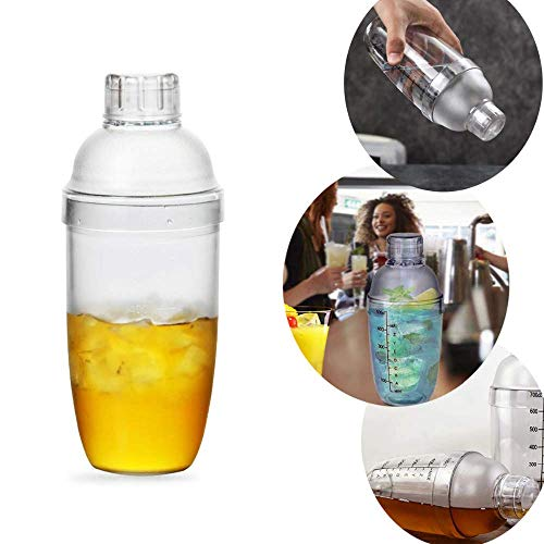 Right Products 750 ML Plastic Liquid Drinks Mocktail Martini Cocktail Shaker