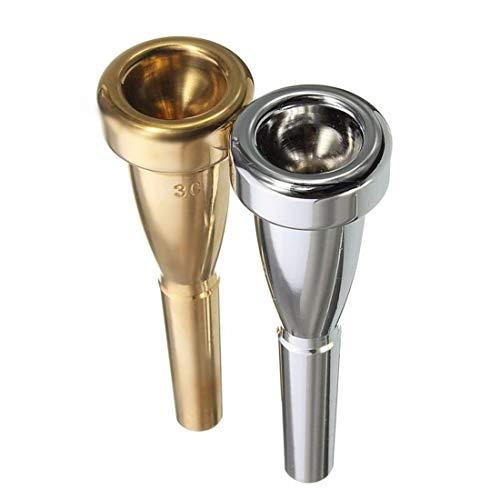 Boquilla de trompeta tamaño 3C para Yamaha para boquilla trompeta metálica de Bach para alto registro y accesorios para trompeta C