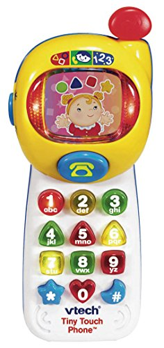 Vtech Tiny Touch Phone, Essential baby toys, toys for every developmental stage, baby toys, must have baby toys, the best toys for babies, gift ideas for babies, Christmas baby gift ideas, gifts for babies