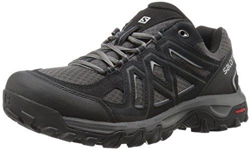 Salomon Evasion 2 Aero, Zapatos de Senderismo para Hombre, Negro (Black/Magnet/Alloy), 43 1/3 EU