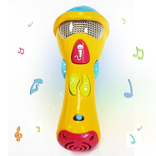 Wishtime Kids Music Karaoke Micrófono Juguetes Juguetes Musicales (grabación, transformación acústica, Canciones e iluminación) Primer micrófono Musical electrónico Karaoke para Chirldren