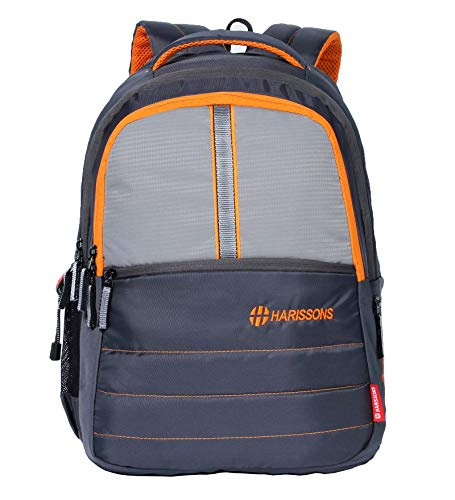 Harissons Go Faster College Bags for Girls and Boys - School Backpack for Teenagers (Grey & Light Grey)