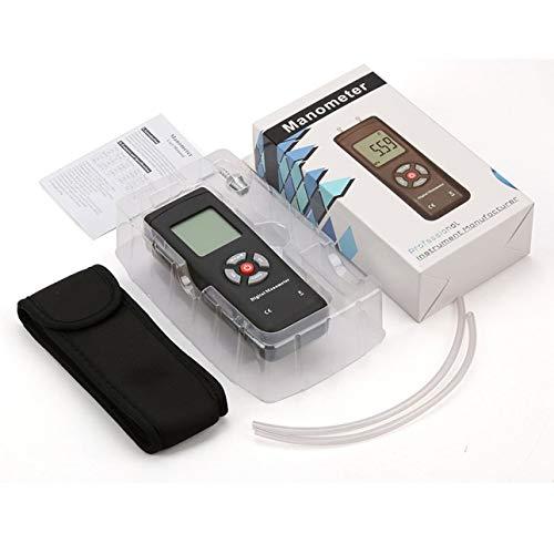 Ballylelly Für TL-100 Digitalmanometer Luftdruckmessgerät Tragbares Druckmessgeräte Hand U-Typ Differenzdruckmesser