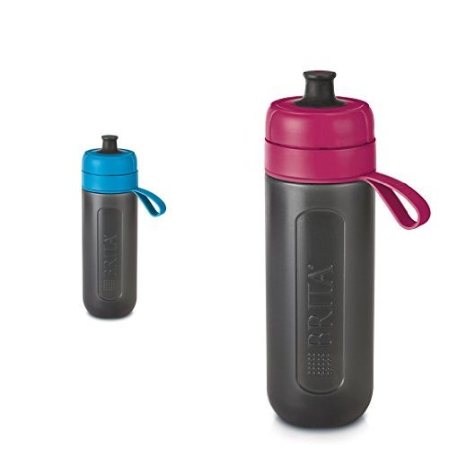 Brita Fill & Go Active 0.6L water filter bottle with cartridges bundle (fresh berry, fresh blue) (1 month of Brita MicroDisc) (1 cartridge)