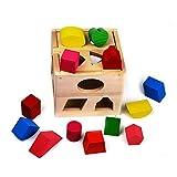 Cubos de Juguete de Madera Formas Diferentes - Clásico Juguete para Aprendizaje Temprano de Niños