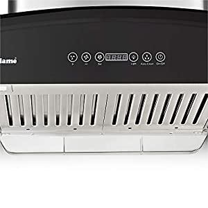 SUNFLAME 60cm 1100 m3/hr Auto Clean Chimney (CH Rapid 60 DX, 2 Baffle Touch Control, Steel/Grey)