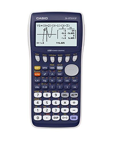 CASIO FX-9750GII-LC-EH - Calculadora gráfica, 21.3 x 87.5 x 180.5 mm, azul / gris