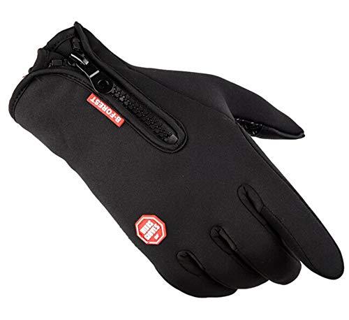 AAJewels Guanti Ciclismo per uomini donne touch screen Guanti invernali touch screen Nero - XL