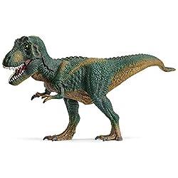 Schleich- Figura dinosaurio Tiranoraurio Rex, Mandíbula inferior articulada, Color Verde, 14,5cm