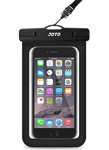 JOTO Universal Waterproof Dry Bag Phone Pouch for iPhone 8/7/7 Plus/6S/6/6S Plus/SE/5S, Samsung Galaxy S8/S8 Plus/Note 8 6 5 4, Google Pixel 2 HTC LG Sony Moto up to 6 Inch (Black)