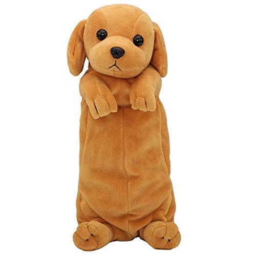 Luckyrainbow - Astuccio in peluche a forma di cane, per cancelleria, per adolescenti, ragazze,...