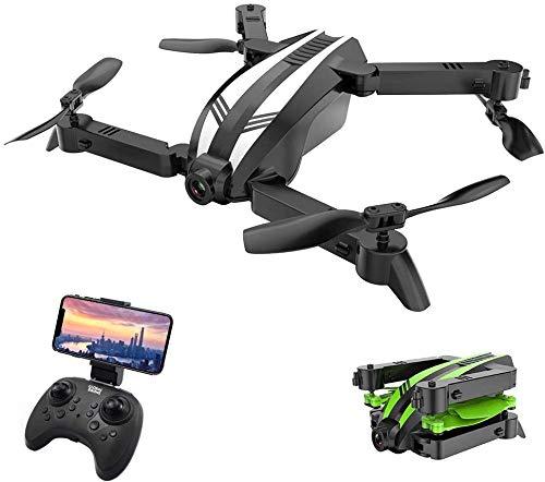 FEE-ZC Mini quadricottero Pieghevole Senza Testa, Mini Drone Selfie GW68 480P 720pWiFi con videocamera HD Video Live, Batteria Grande, Allarme Bassa Tensione