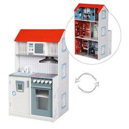 'roba gioco CENTER gioco 2in 1, casa delle bambole e cucina, casa e cucina, diverse varianti
