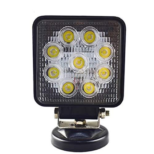 MachinYeser 27W LED DRL Camión de Coche Luz de Trabajo Luz Cuadrada a Prueba de Agua Foco súper Brillante para Off-Road Motorcycle Negro