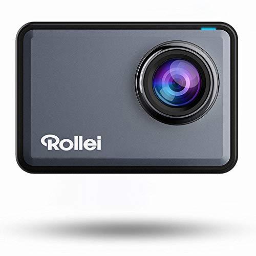 Rollei Actioncam 560 Touch - WiFi Action-Cam wasserdicht 4k 60 FPS - Sports-Cam mit Touchscreen, Unterwasser-Filter, Fotointervallaufnahmen mit 160° Super-Weitwinkel-Objektiv mit viel Zubehör