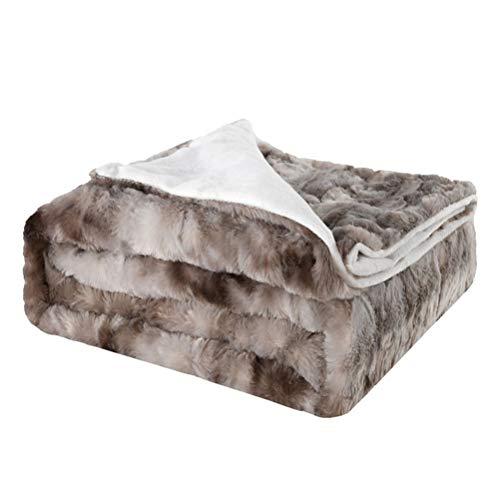 RUIXFBL Morbido Coperta: Tessuto Extra soffice con Pelo di Pelliccia, copriletto Super Caldo,...