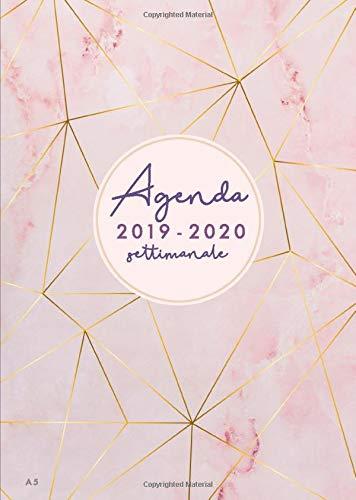 Agenda settimanale 2019 2020 A5: Agenda 2019/2020 giornaliera italiano | 18 mesi | luglio 2019 -...