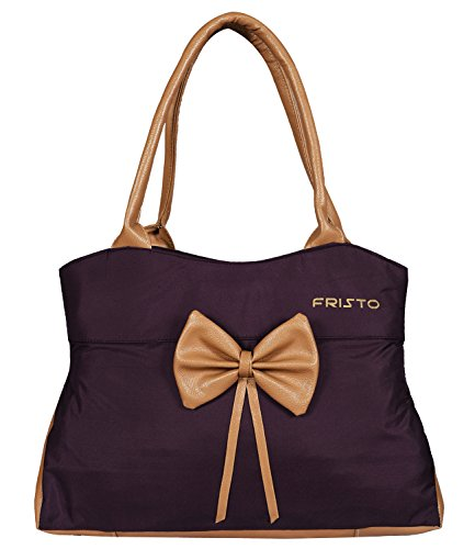 Fristo Women's Handbag (Purple and Beige)