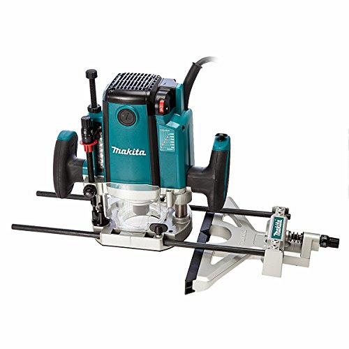 This is an outstanding wood router. It has a solid body and a powerful 2000W motor with variable speed, meaning you won't have any problem cutting materials at the right speed. It comes with collets that accepts both ¼ '' and ½ '' shank bits, giving you options in your work. Like many other expensive wood routers