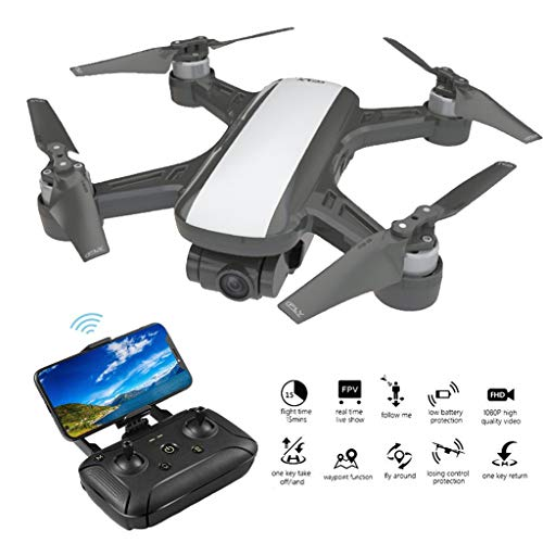 Sunnywill C-Fly Dream GPS WiFi FPV con Camera d'Aria Gimbal a 2 Assi 1080P HD Camera Flusso Ottico...