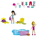 Polly Pocket W6307 - Poupée et Mini-Poupée - Piscine - 2 Figures