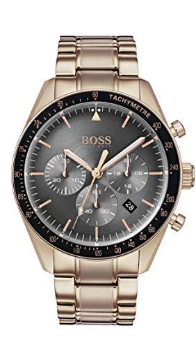 Hugo Boss Watch Orologio Cronografo Quarzo Uomo con Cinturino in Oro Rosa 1513632