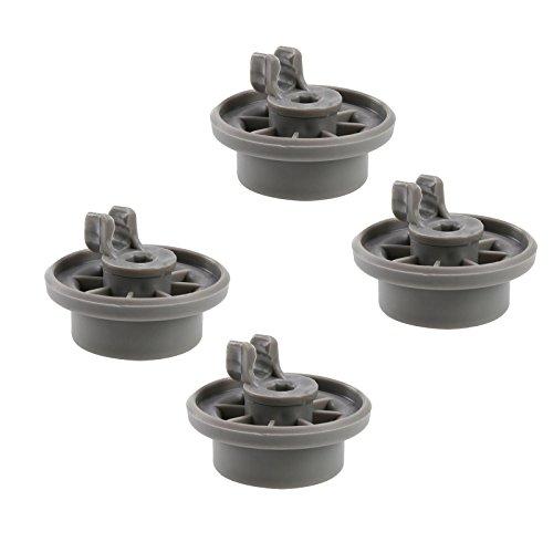 First4spares - Ruote a Clip per Carrello Inferiore di lavastoviglie Bosch, Neff eSiemens, Confezione...