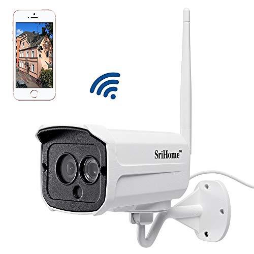 Sricam SH024 1080P Telecamera di Sorveglianza WIFI Esterno Supporto NVR Onvif IP CCTV Camera Impermeabile, Visione Notturna, Telecamera Wi-Fi Esterno Senza Fili (SriHome APP, 2.0MP)