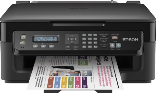 Epson WorkForce WF-2510WF Stampante Multifunzione a Getto d'Inchiostro, Nero