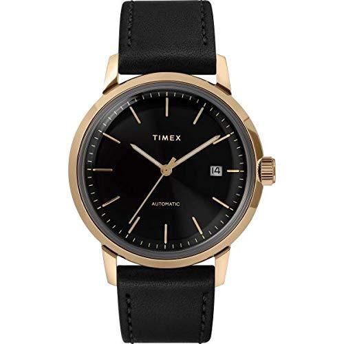 Uhr Timex Automatik Kollektion Marlin Gehäuse Gold Gold Durchmesser 40 mm für Herren Garantie Italien 2 Jahre