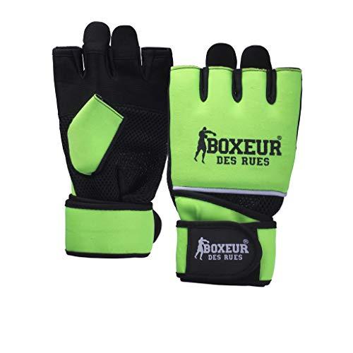 BOXEUR DES RUES Serie Fight Activewear, Guanti da Fit-Boxe in Neoprene Unisex Adulto, Giallo, S-M