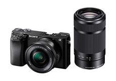 Sony Alpha 6100Y - Cámara Evil de 24.2 MP (Sensor APS-C CMOS Exmor R, procesador Bionz X, 425 Puntos de AF a 0.02s, Eye AF, grabación 4K) - Kit Cuerpo con Objetivo SELP1650 + SEL55210